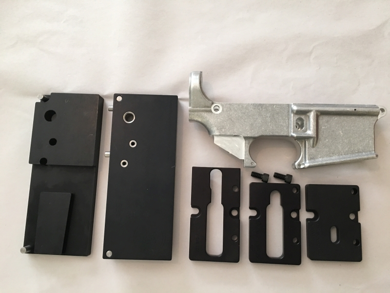 AR15 80% lower receiver and jig set