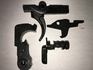M16 parts to include fire control, lower parts kit, barrels